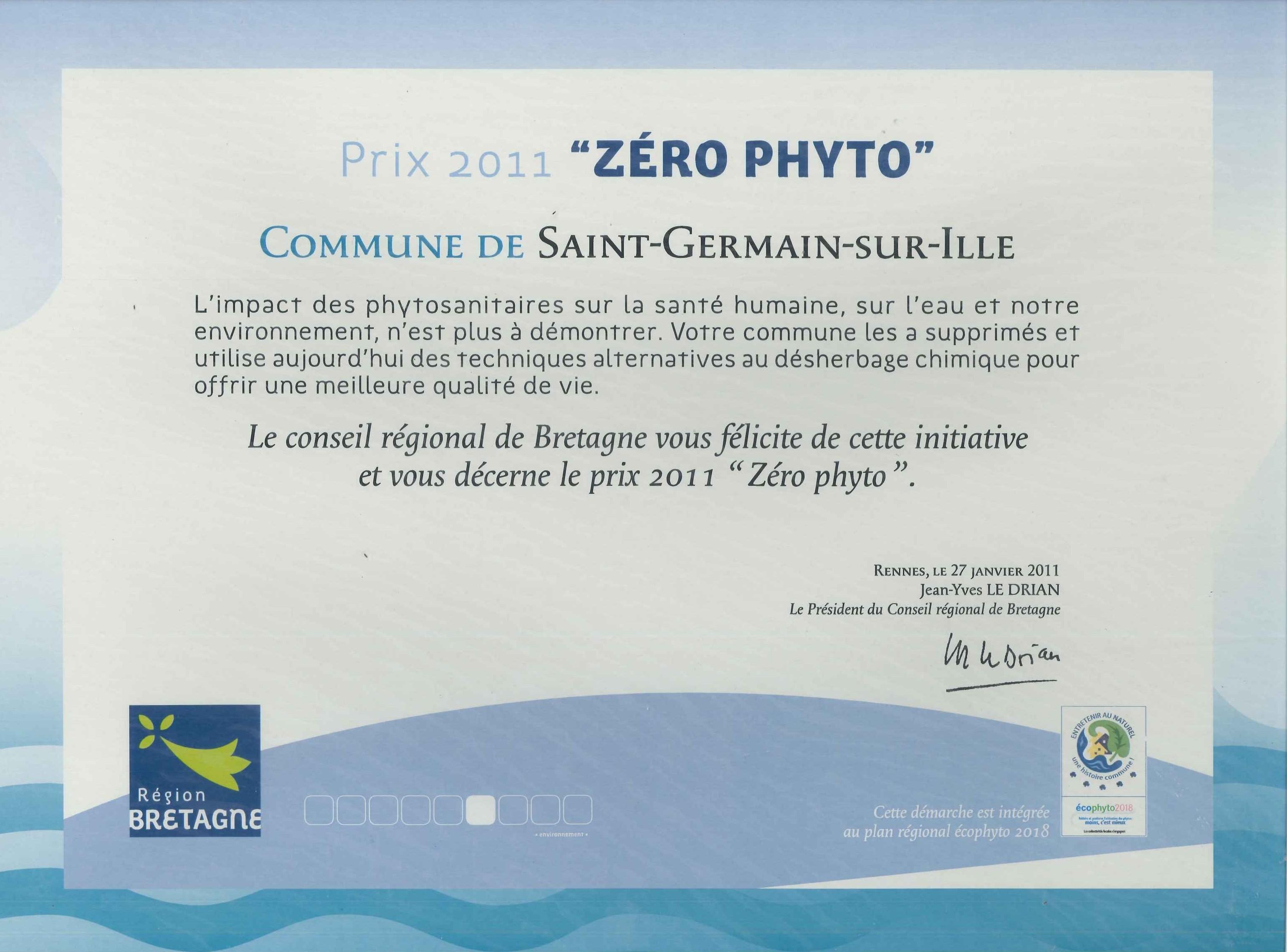 Zéro phyto 2011