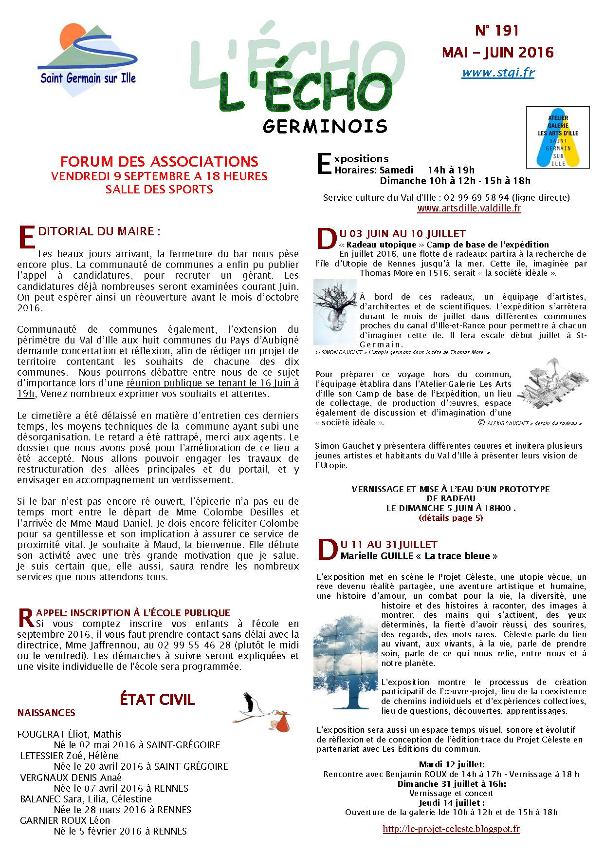Echo Germinois n°191 - Mai à Juillet 2016_Page_1
